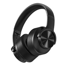 WAZA B8 Bluetooth V5.0 Headphone Wireless Headset 50mm Driver 1000mAh Touch Control Foldable Over-Ear Gaming Headset with Mic Black
