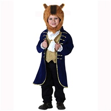Prince Outfits Boys' Movie Cosplay Blue Coat Collar Headwear Halloween Children's Day New Year Polyester / Cotton Blue,XS-Kid