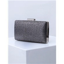 Women's Bags Polyester Alloy Evening Bag Glitter Solid Color Glitter Shine Fashion Wedding Bags Wedding Party Sillver Gray Black Blue Purple Sillver Gray