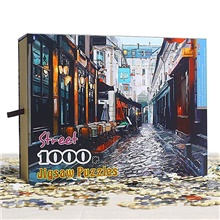 1000 pcs Tranquil Jigsaw Puzzle Adult Puzzle Gift Stress and Anxiety Relief Parent-Child Interaction Wooden Adults Toy Gift