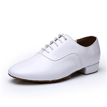 Men's Modern Shoes Heel Thick Heel White Black Lace-up Adults' / Performance 1''(2.5cm)Thick Heel,White,US8.5-9 / EU41 / UK7.5-8 / CN42