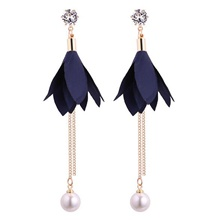 Women's Drop Earrings Tassel Fringe Precious Fashion Earrings Jewelry Blue / Blushing Pink For Christmas Halloween Street Gift Date 1 Pair Blue,1 pair