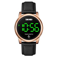 SKMEI Men's Digital Watch Digital Stylish LED Light Digital Rose Gold Black Gold / One Year / Leather Rose Gold
