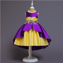 Princess Cosplay Costume Party Costume Costume Girls' Movie Cosplay Euramerican Cute Purple Blue Pink Dress Christmas Halloween Carnival Polyester / Cotton Polyester Purple,110cm