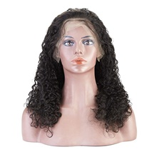 Human Hair Lace Front Wig Free Part style Peruvian Hair Loose Curl Black Wig 130% Density Classic Women Fashion Women's Short Long Medium Length Human Hair Lace Wig Clytie / Very Long Glueless Lace Front,Natural Color,130%,10 inch,Average