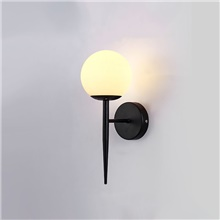 led wall lamp wall sconces nordic style globe design black gold living room dining room aluminium alloy wall light 220-240v 110-120V,1 Head,Black