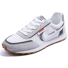 Men's Trainers Athletic Shoes Sporty Athletic Running Shoes PU Non-slipping White Black Green Winter White,US7 / EU39 / UK6 / CN39