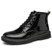 Men's Boots Casual Daily PU Non-slipping Mid-Calf Boots Black Winter Black,US7 / EU39 / UK6 / CN39