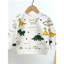 Kids Girls' Active Basic Graphic Print Long Sleeve Hoodie & Sweatshirt White White,2-3 Years(100cm)