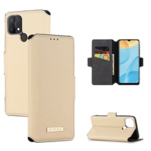 Case For OPPO OPPO F17 Pro / OPPO Reno4 SE / Reno 4 5G Wallet / Shockproof / with Stand Full Body Cases Solid Colored PU Leather / TPU Oppo Reno 4,Light Brown