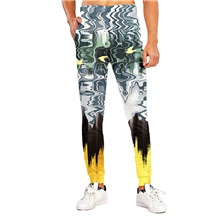 Men's Sporty Casual / Sporty Breathable Quick Dry Sports Casual Holiday Pants Sweatpants Pants Tie Dye Graphic Prints Full Length Print Green Green,M