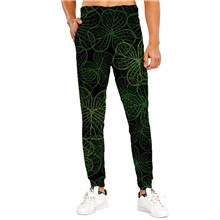 Men's Sporty Casual / Sporty Breathable Quick Dry Sports Casual Holiday Saint Patrick Day Pants Sweatpants Pants Graphic Prints Full Length Print Black Black,M