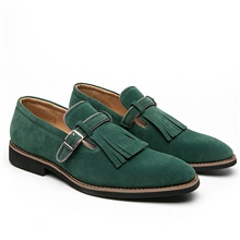 Men's Oxfords Business Wedding Office & Career Walking Shoes PU Breathable Non-slipping Wear Proof Green Gray Coffee Color Block Fall Spring Green,US6-6.5 / EU38 / UK5-5.5 / CN38