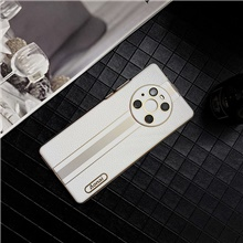 Business affairs Solid Colored PU Leathe Case For Huawei HUAWEI P40 P40 Pro Mate 40 40Pro Mate30 Shockproof Back Cover Lines Waves Mate30,White