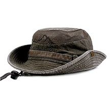 Fishing Hat for Men and Women Breathable Cotton Sun Hat Safari Boonie Cap Monochrome Army Green,One size 58cm