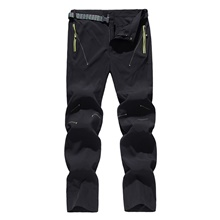 Men's Hiking Pants Trousers Patchwork Summer Outdoor Lightweight Breathable Comfort Quick Dry Bottoms Black Army Green Blue Grey Dark Navy Hunting Fishing Climbing M L XL XXL XXXL / Wear Resistance Black,M